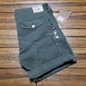 New Women's True Religion Cargo shorts